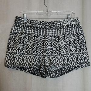 J Crew Geometric Linen Shorts sz 8
